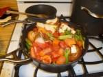 Roasted Veggies, Herbs & Bones