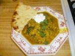 Herb & Beef Soup With Yogurt & Naan