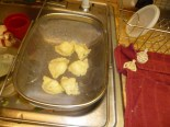 Draining & Cooling Pierogies