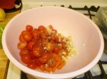 Tomatoes, Pepper, Garlic, Oregano, Salt, Pepper & Olive Oil