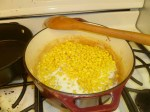 Corn Deposited