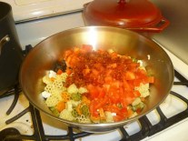 Tomato Feta Pasta Salad Pre-Dressing