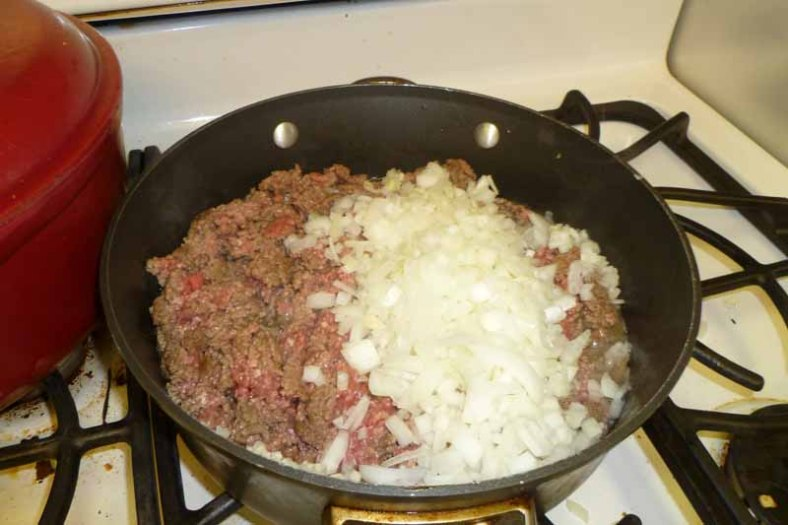 Cooking Ground Beef & Onions