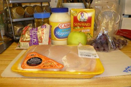 Fruity Curry Chicken Salad Ingredients