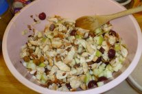 Chicken, Fruit & Nuts In The Bowl