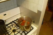 Tomatoes In Boiling Water
