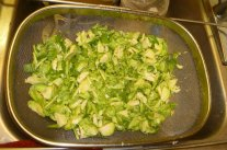 Chopped, Rinsed Brussels Sprouts