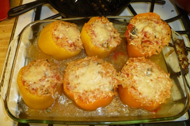 giada's orzo stuffed peppers
