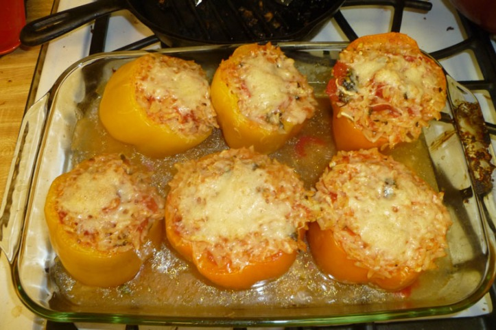 giada's orzo stuffed peppers