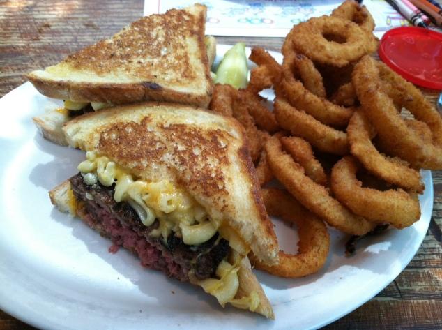 p & g mack truck burger melt