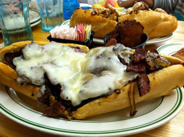 pastrami cheesesteak