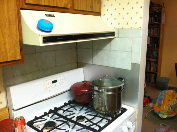 wusic in kitchen